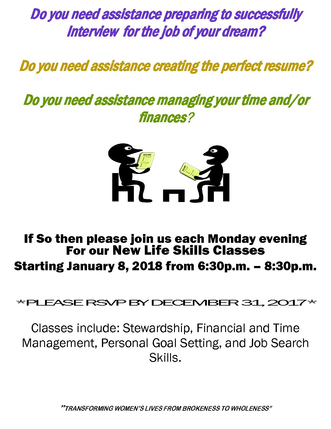 New Life Skills Flyer for website