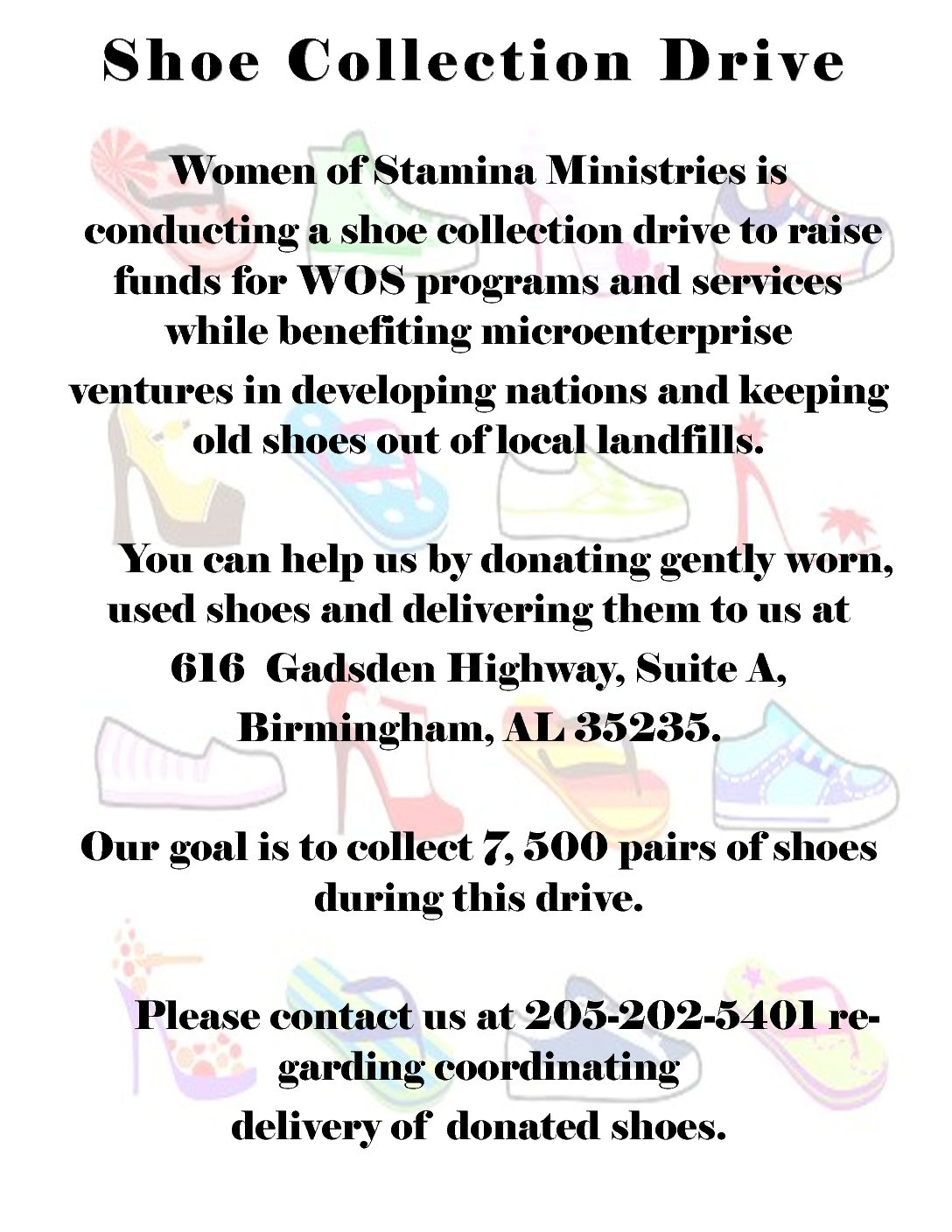 shoe collection drive
