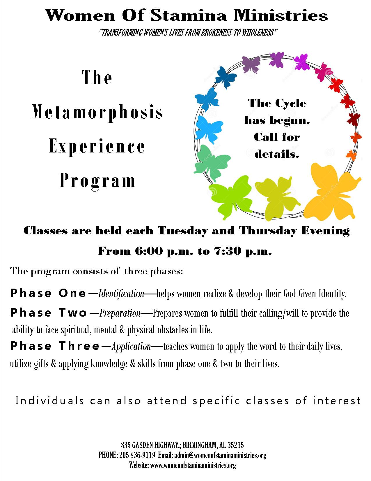 Metamorphosis Experience Flyer 2021