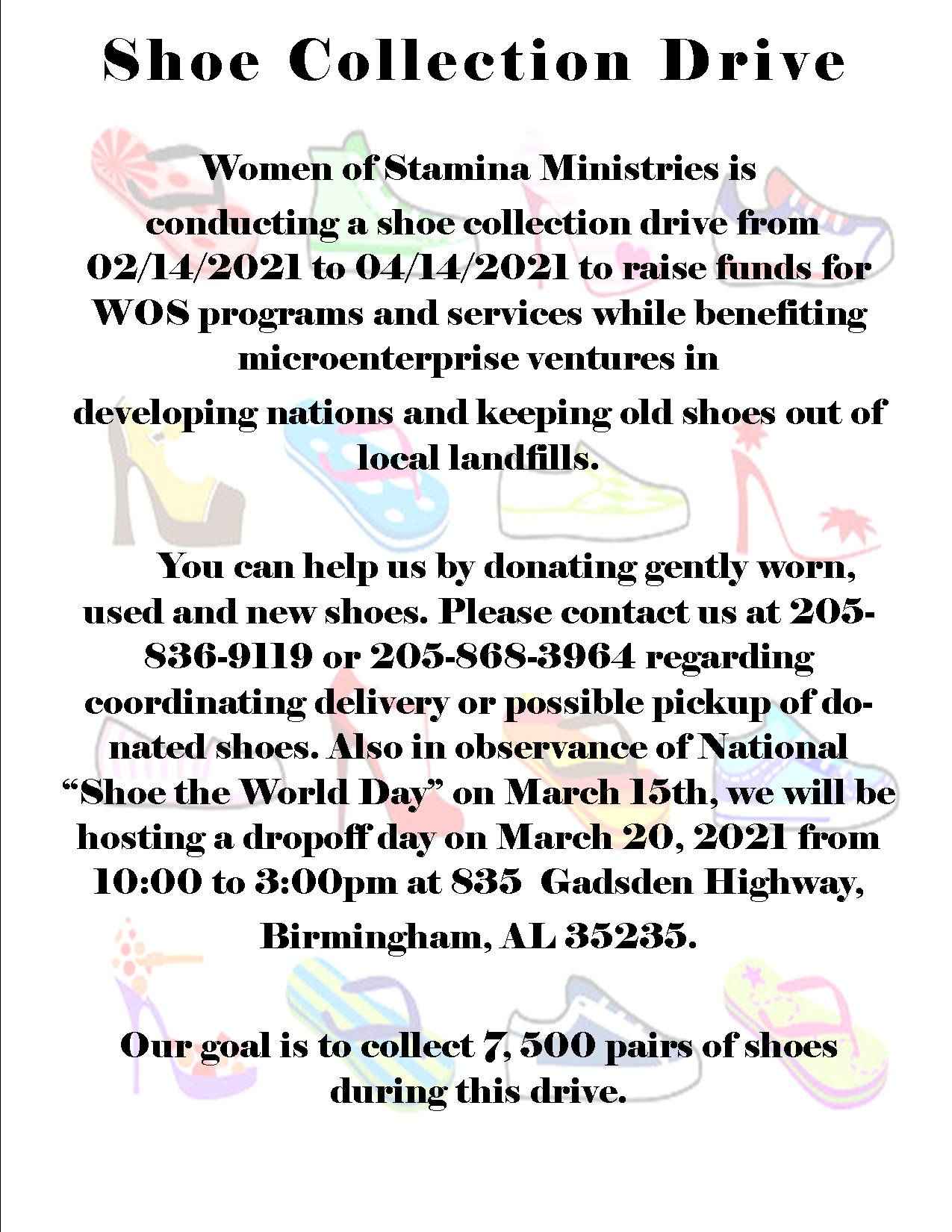 WOS shoe collection drive for website